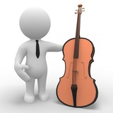 Smart 3D figure holding cello