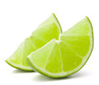 Citrus lime fruit segment isolated on white background cutout