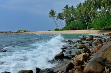 Sri Lanka - spiaggia di Mirissa   e Wellgama