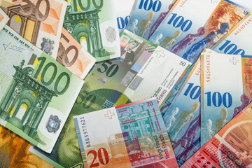 Swiss and EU bank notes