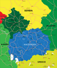 Macedonia map