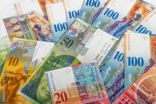 Fototapeta Swiss bank notes