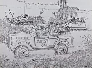scouts U.S. Marine in Vietnam