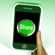 Share Smartphone Means Online Sharing And Community