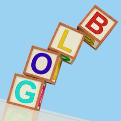 Blog Blocks Show Blogger Internet And Niche