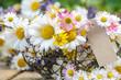 Lieber Gruß: Frühlingsblumen mit Eisenkorb und Papieranhänger