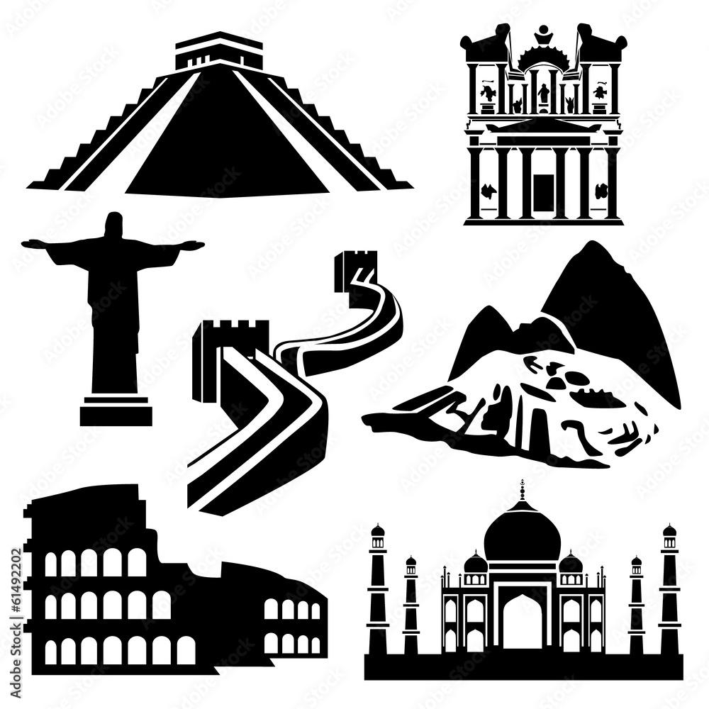 Seven Wonders Of The World Sticker By Stickersticker