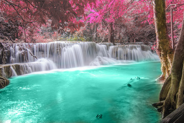 Deep forest Waterfall in Kanchanaburi © ake1150