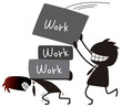 仕事を追加するビジネスマン