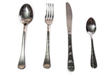 Spoons, fork, knife and teaspoon