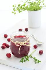Homemade cranberry jam