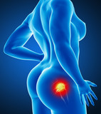 Woman joint pain