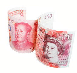 British curreny and Chinese currency