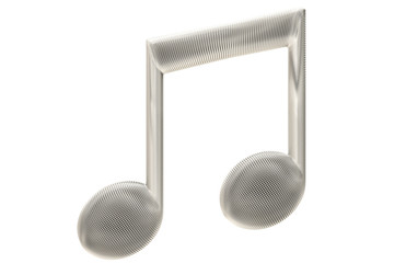 Microphone mesh style musical symbol isolated.