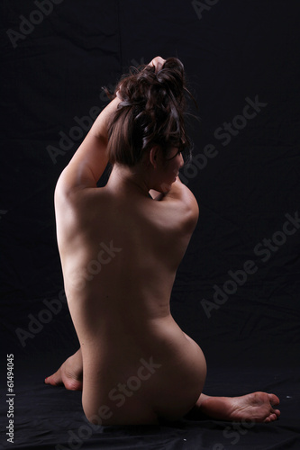 Transgender model nude pose