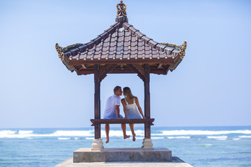 gazebo and couple