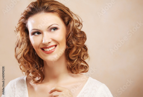 young laughing woman