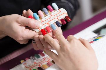 Manicure process.