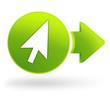 curseur sur symbole web vert