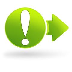 danger sur symbole web vert