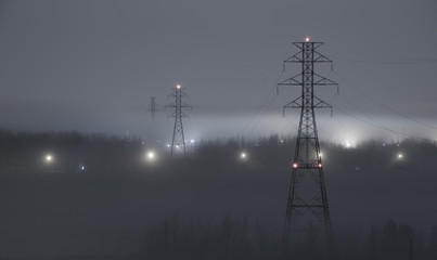 Power flowing through the fog