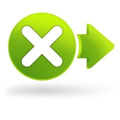 multiplication sur symbole web vert