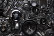 Leinwanddruck Bild - A fragment of the engine