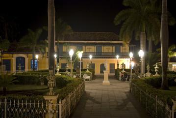 Plaza Mayor by night, Trinidad, Cuba