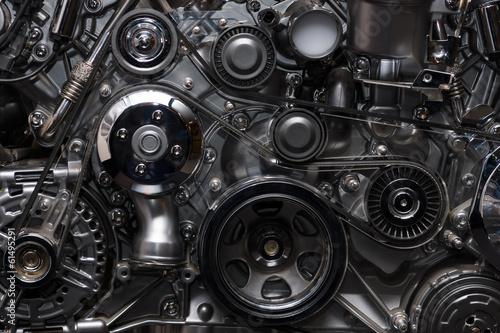 Leinwanddruck Bild A fragment of the engine