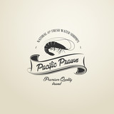 Vintage Pacific Prawn badge
