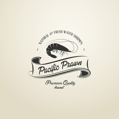 Vintage Pacific Prawn badge