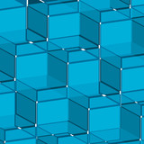 Background blue cube