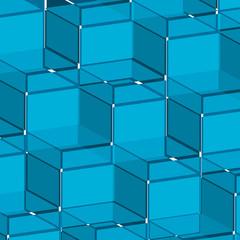 Background blue cube