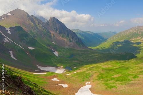 caucasian mountain valley