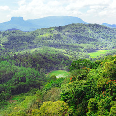 Mountains on island of Sri Lanka