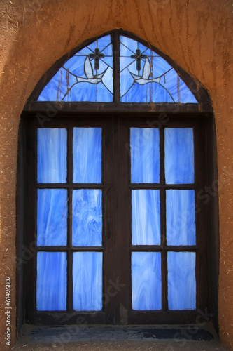 Taos Pueblo - church window