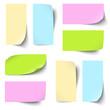 Sammlung - farbige Zettel / Notiz blank