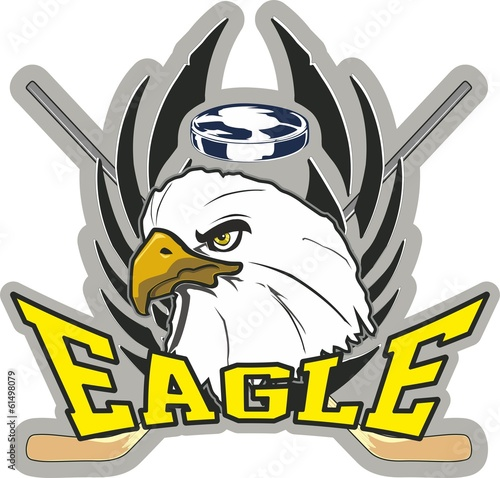 Hockey eagle
