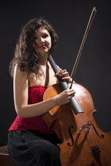 Young Woman with Violoncello