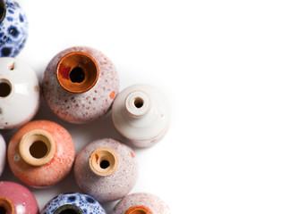Pots in glaze