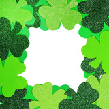 St. Patrick's Day. Shamrock Frame isolated on white