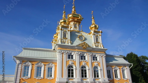 ornate dome in Peterhof park - Saint-petersburg Russia