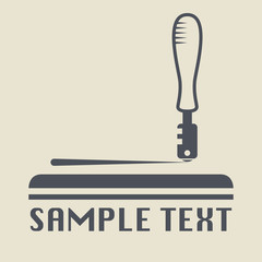 Glass cutter icon or sign, vector illustration