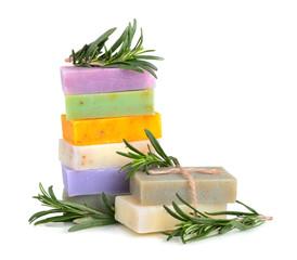 Handmade flower soaps