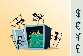safe deposit box damaged by thief