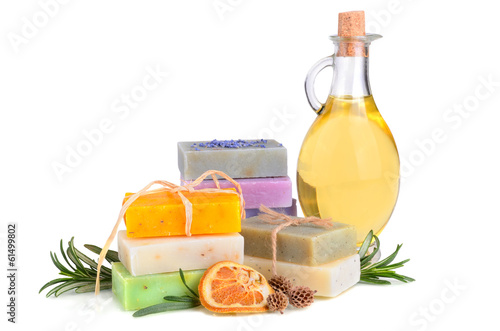 Soaps and massage oil