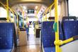 Leinwanddruck Bild - Route bus in Dubai.