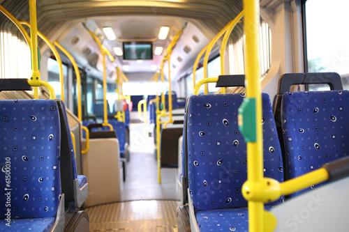 Leinwanddruck Bild Route bus in Dubai.