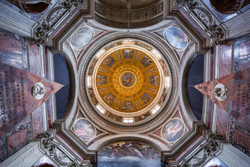 view of chapel at Santa Maria del Popolo church. Rome.