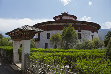Watch tower of the Rinpun Dzong in Paro - Bhutan